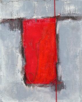 Rechteck rot in grau